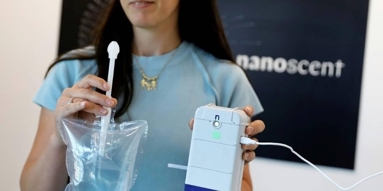 Détecter la covid-19 par un test olfactif en 30 secondes