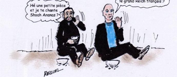 Terrible l'antisémitisme ne paie plus, dessin de Reguel
