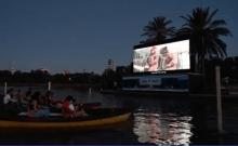 le premier cinéma israélien sur l'eau