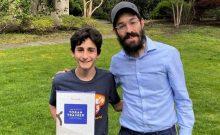 Rabbi Levi Lipinski with student Nathanael Ghez. Credit: Courtesy.