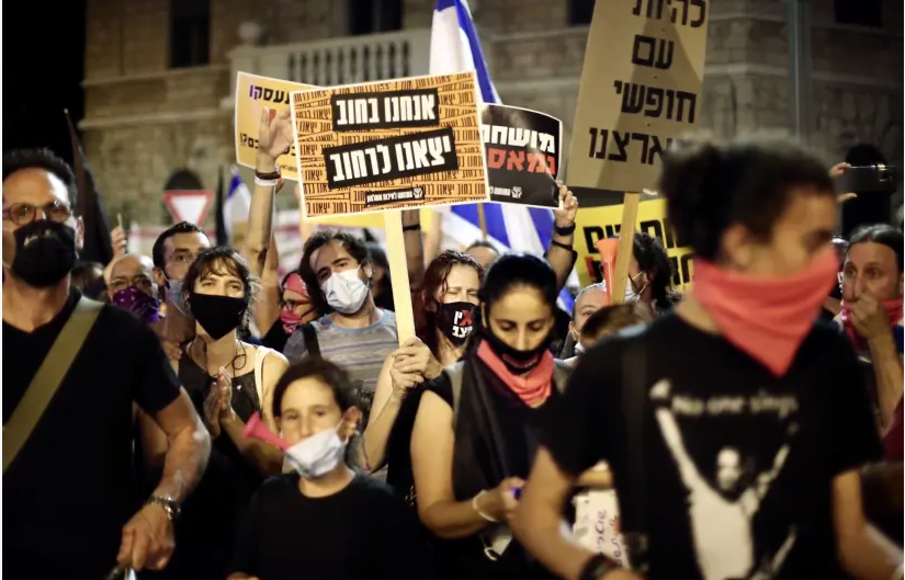Des manifestants anti-Netanyahu bloquent l'aéroport avant le vol du Premier ministre vers les États-Unis