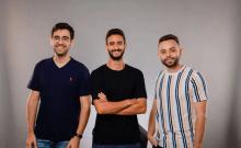 De droite à gauche: Lior Dolinski, Bar Mor et Noam Kahan d'Agora. (crédit photo: YARIN TARANOS)