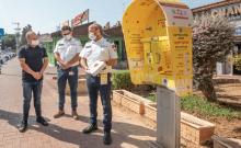 Nouvelle station de défibrillateur à Ashkelon (crédit photo: SIVAN METODI / MUNICIPALITÉ D'ASHKELON)
