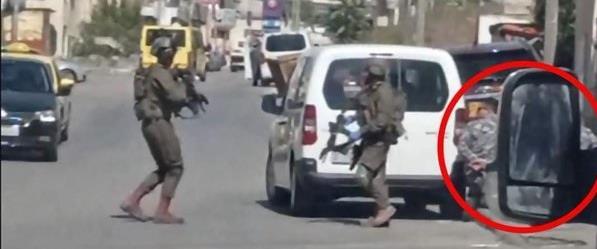 Policiers palestiniens désarmée par les forces israélienes