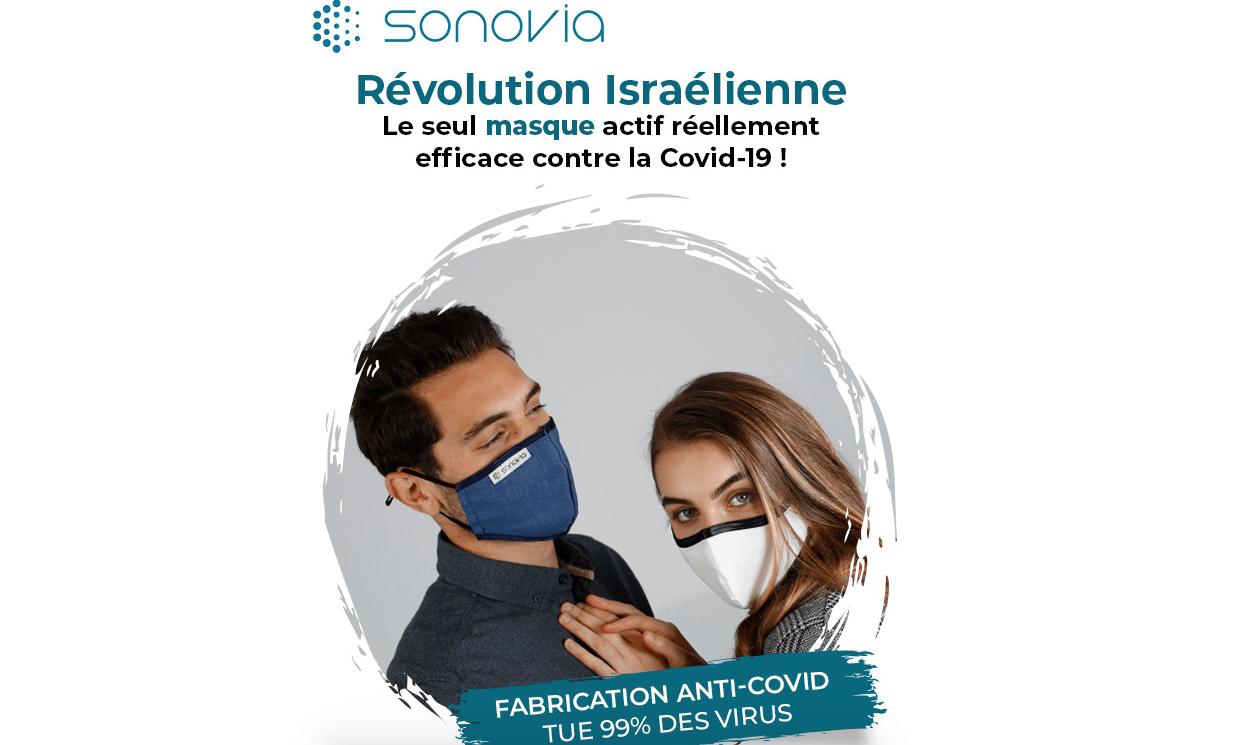 Des tests laboratoires indépendants, démontrent l'efficacité du masque facial fabriqué