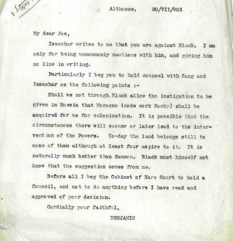 Lettre code de Herzl