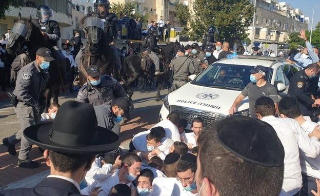Violence et affrontement avec la police dans une Yeshiva à Ashdod en Israël - vidéo-
