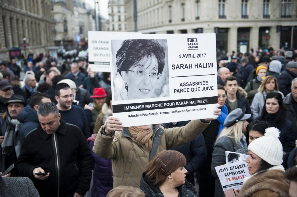 l'allumage pour Sarah Halimi z'l à Paris