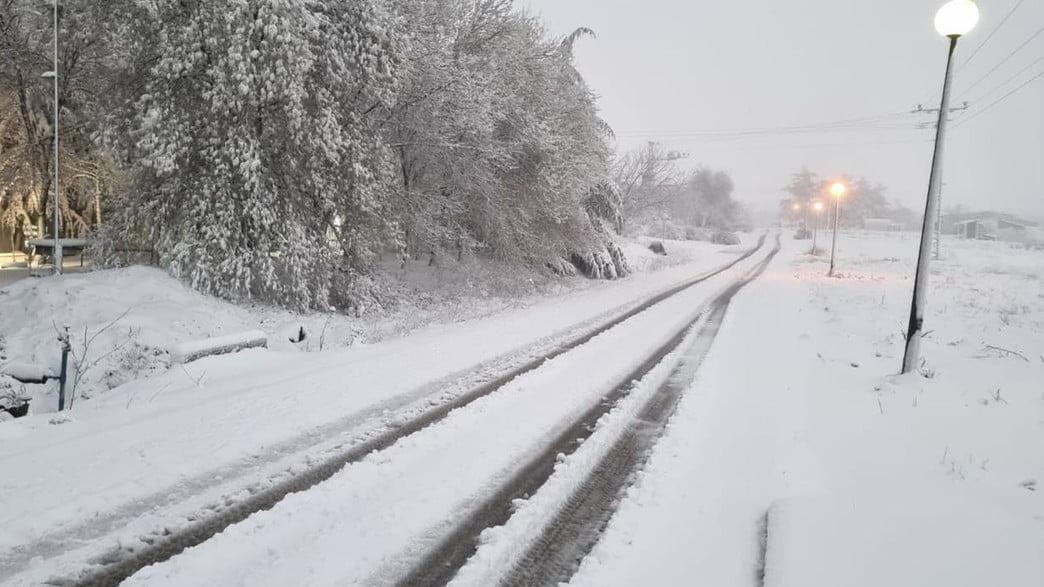 La neige en Israël, les routes bloquées