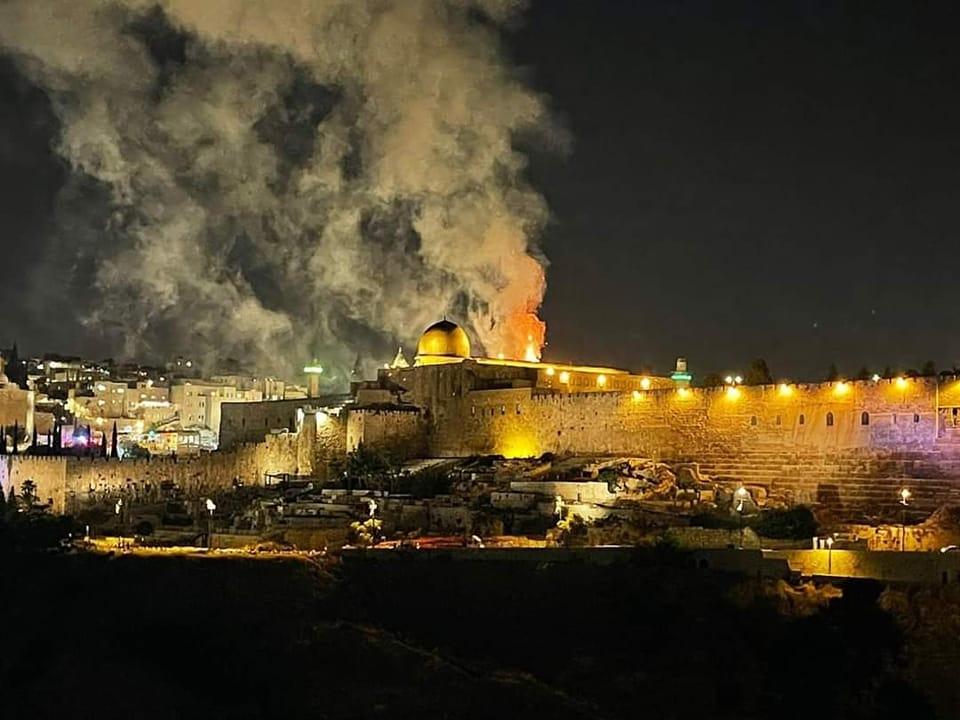 Incendie en cours sur le Mont du Temple à Jérusalem