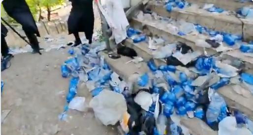 La rampe qui a provoqué la tragédie à Meron à Lag Ba omer en Israël