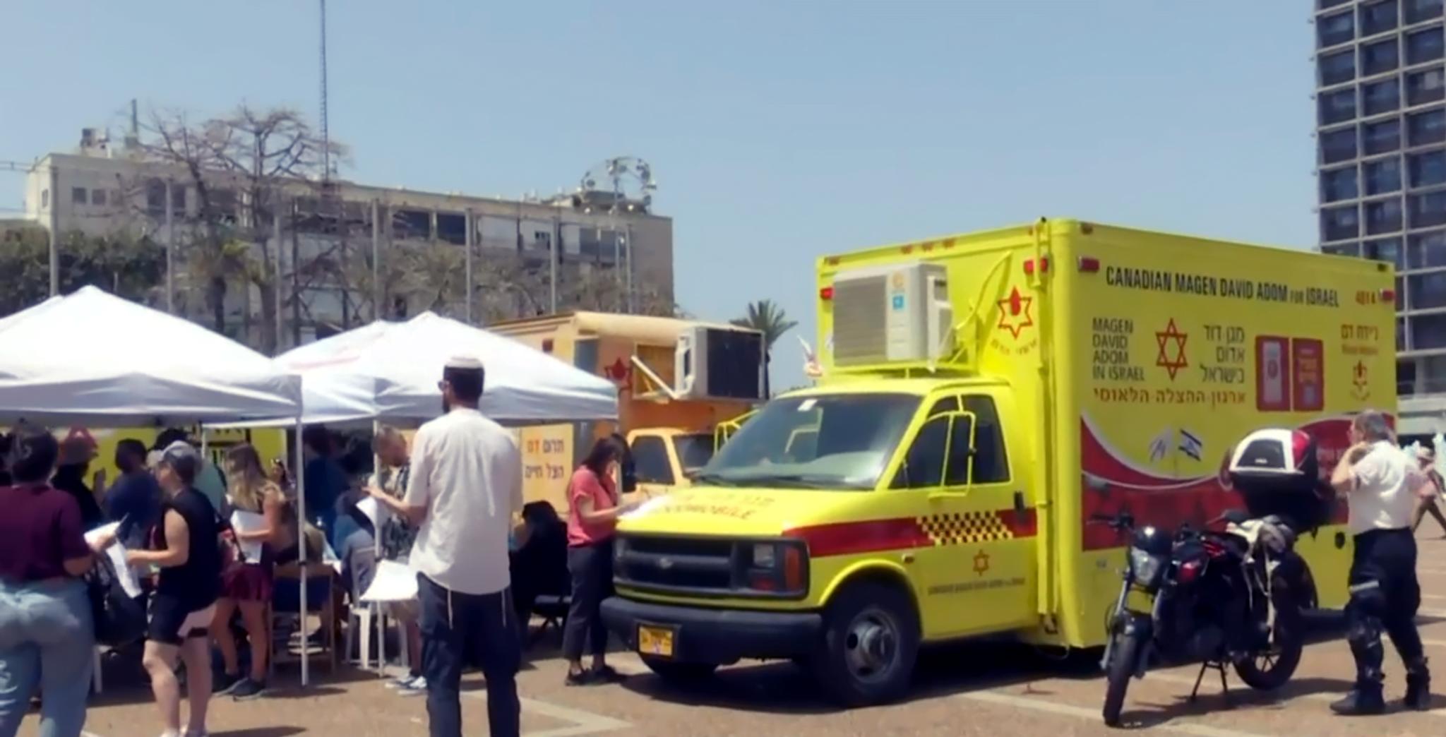 2208 Israéliens ont donné leur sang pour sauver les rescapés du Méron