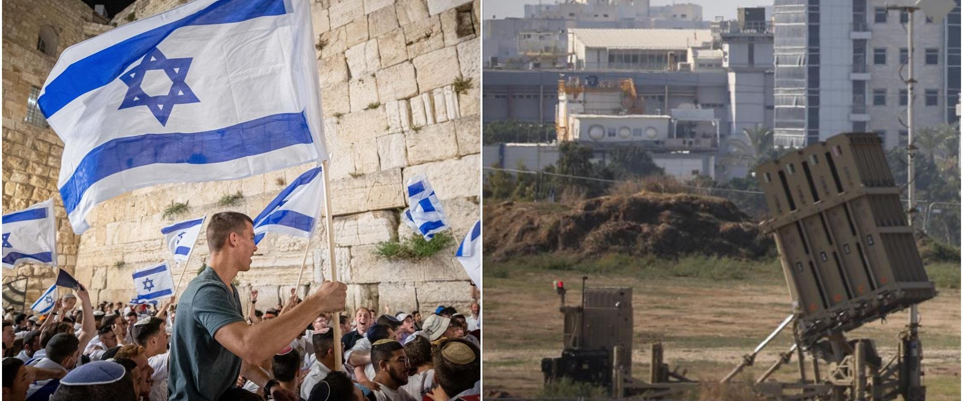 Israël : marche des drapeaux à Jérusalem approuvé, Dôme de fer renforcé
