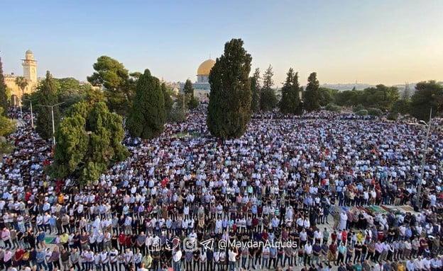 Des centaines de milliers de musulmans prient sur le Mont du Temple à Jérusalem-vidéo-