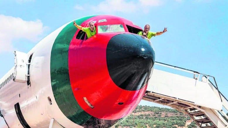 Un avion de l'Air Force est devenu une attraction palestinienne à Naplouse