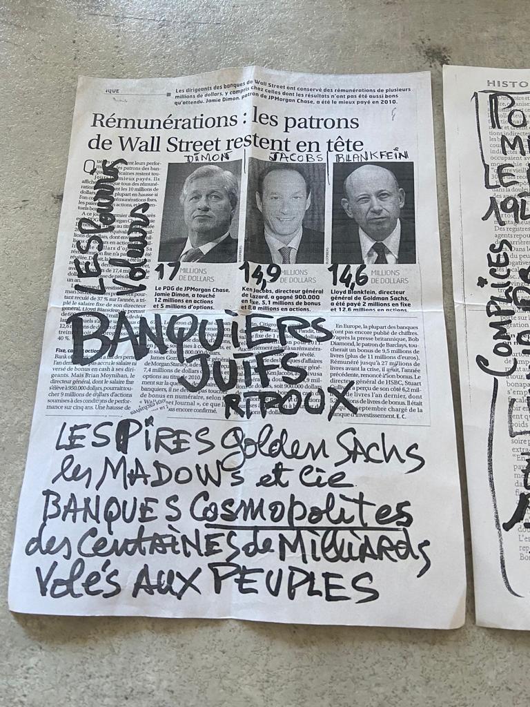 Antisémitisme : Banquiers Juifs Ripoux Tous JuifsTous socialo, Tous riches