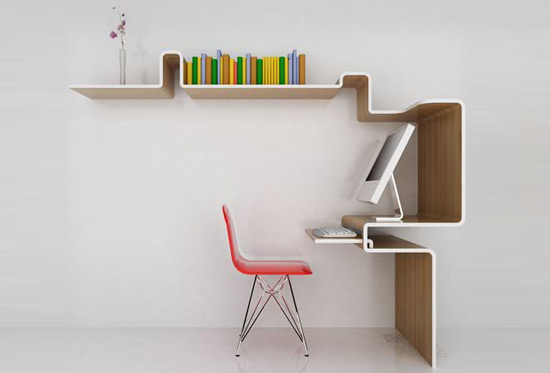 D co astuces design cr er un espace bureau fonctionnel for Bureau design 1 m