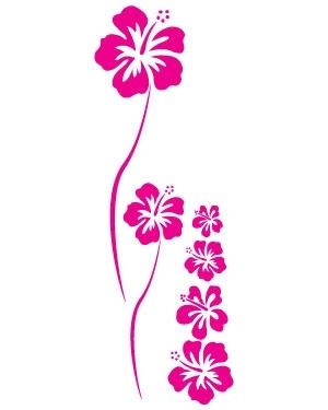 Fleurs hawaiennes dessin - Fleur d hibiscus dessin ...