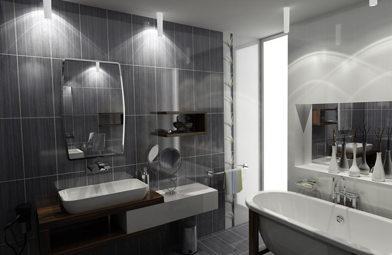 Comment eclairer un salon sombre for Photo salle de bain design
