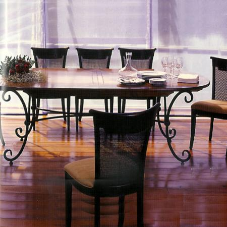 table de salle a manger ovale avec rallonge conceptions de maison. Black Bedroom Furniture Sets. Home Design Ideas