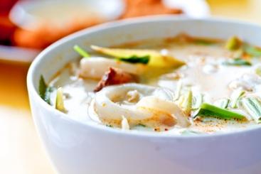 Entrée cashère, recette cashère : Soupe Thaïlandaise au lait de coco