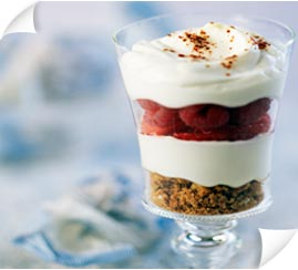 Dessert : Verrines de fruits au mascarpone